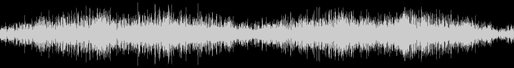 無限ループする地響き(左右揺れ)の未再生の波形