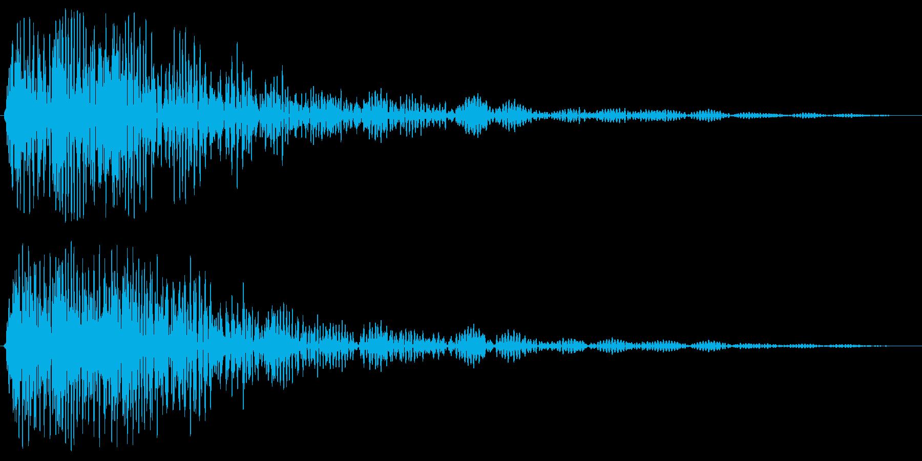 ドゥーンと響く爆発音の再生済みの波形
