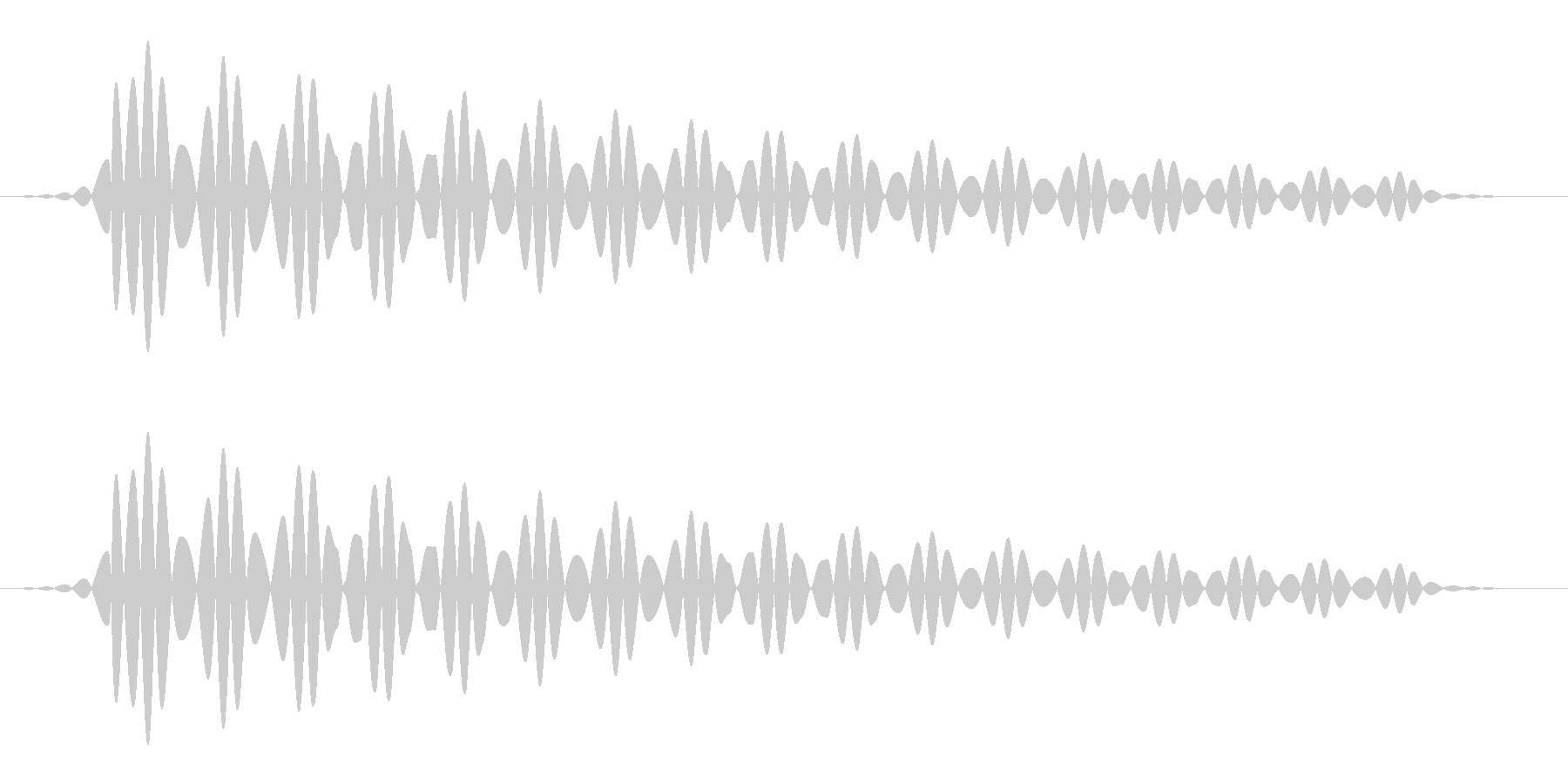 キャンセル(パソコン/エラー画面)の未再生の波形
