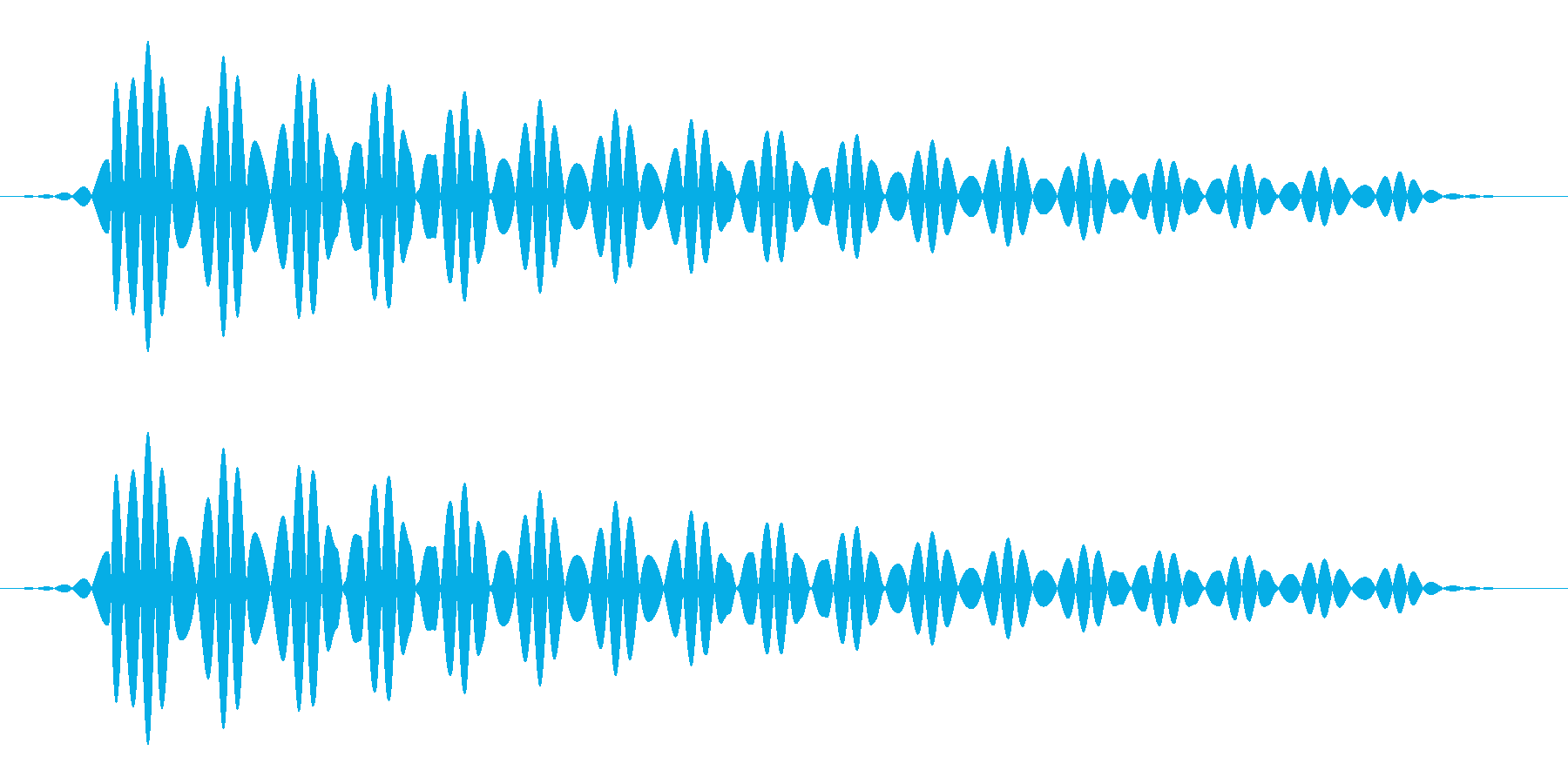 キャンセル(パソコン/エラー画面)の再生済みの波形