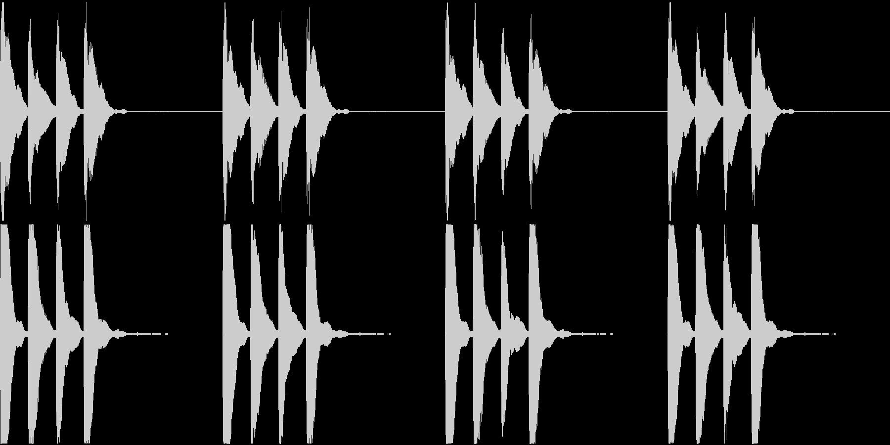 シンプル ベル 着信音 チャイム C-8の未再生の波形