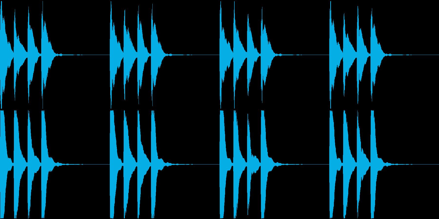 シンプル ベル 着信音 チャイム C-8の再生済みの波形