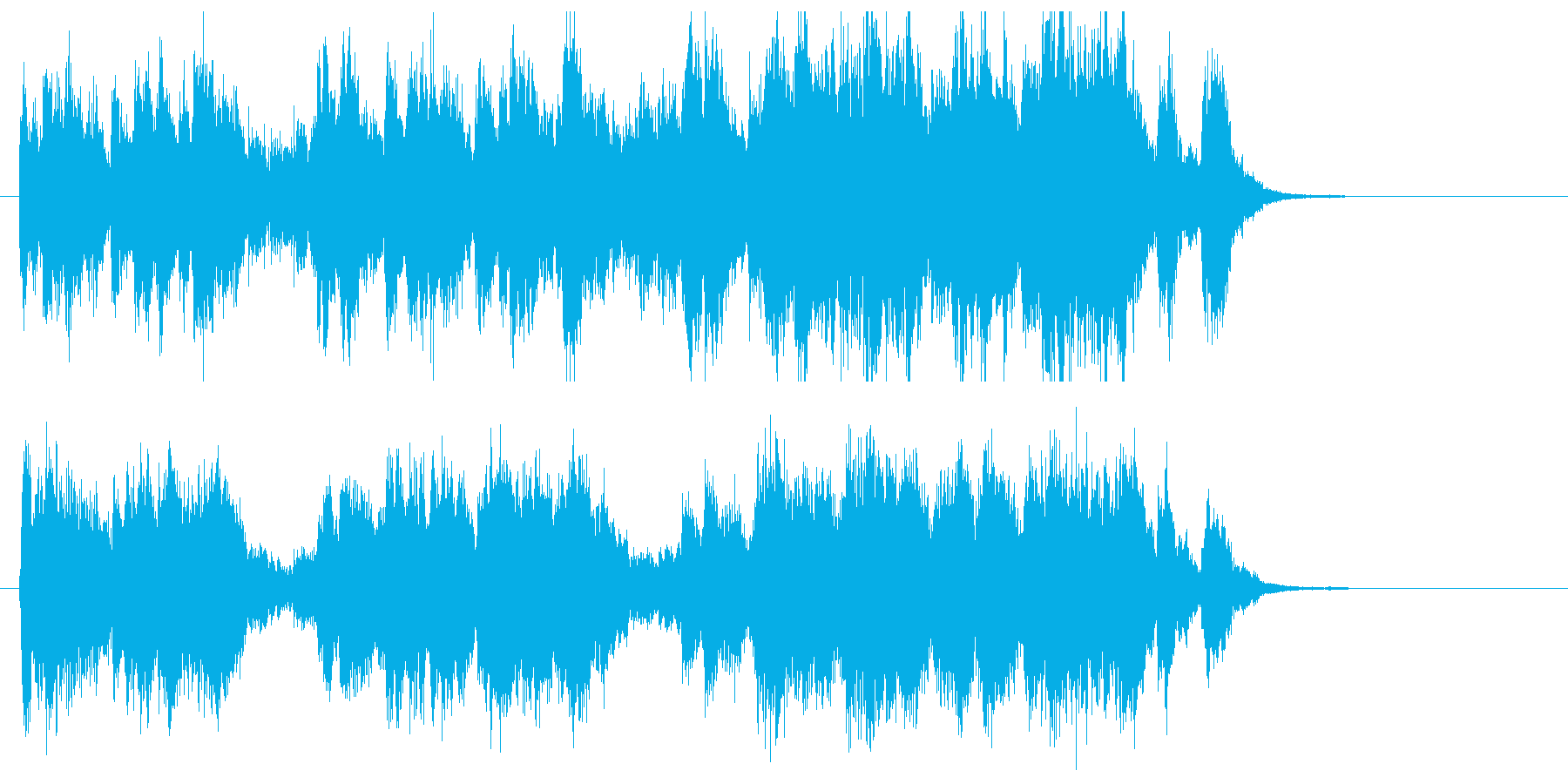 コミカルでポップなトランペットジングルの再生済みの波形
