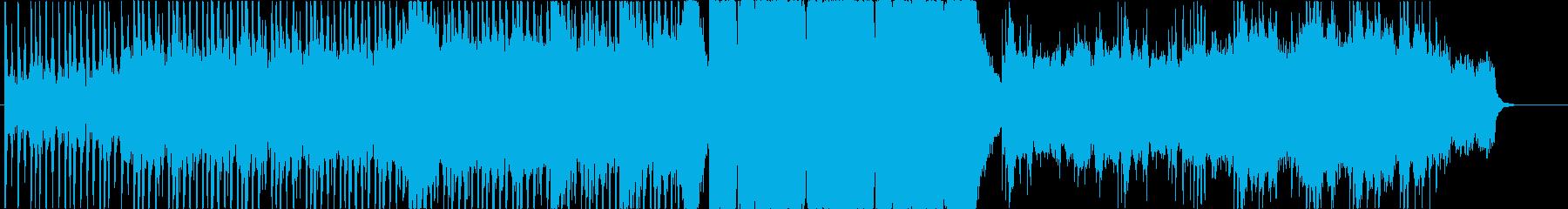 映画の戦闘シーンのイメージの再生済みの波形