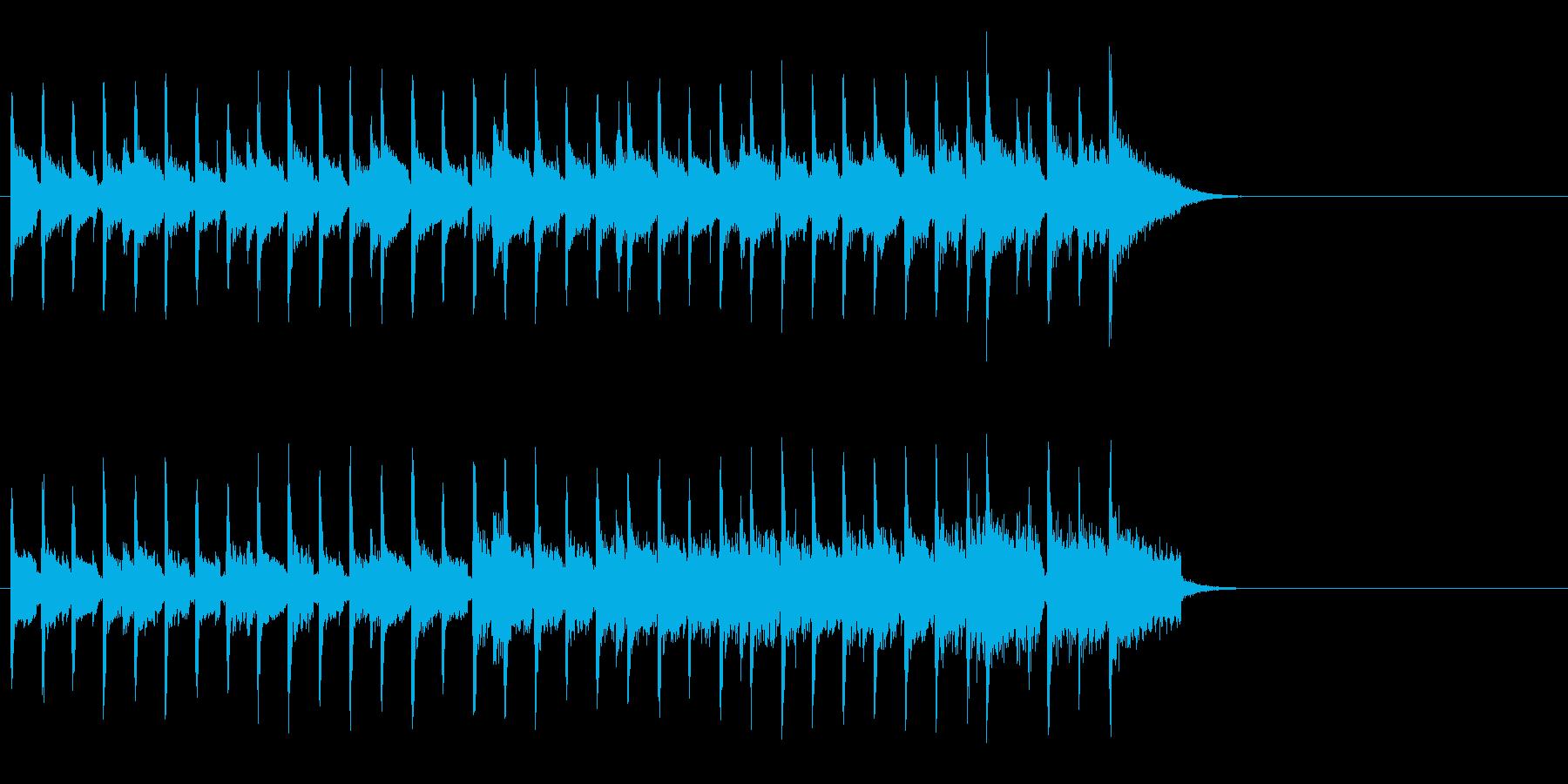 ブリティッシュなポップ(イントロ)の再生済みの波形