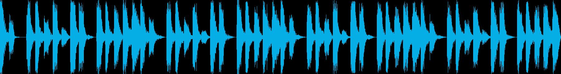 パズルゲーム向け待機画面BGM(ループ)の再生済みの波形
