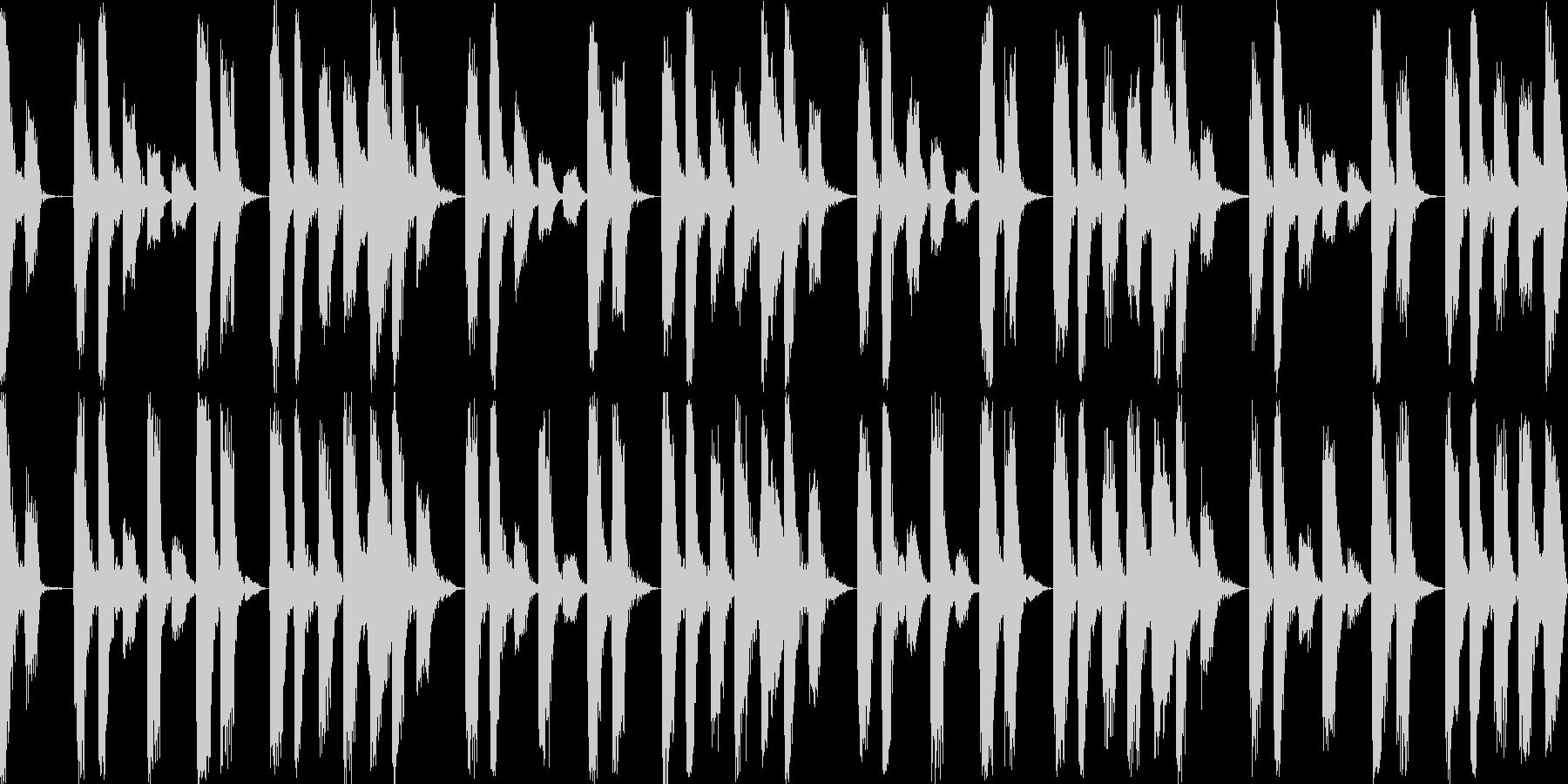 パズルゲーム向け待機画面BGM(ループ)の未再生の波形
