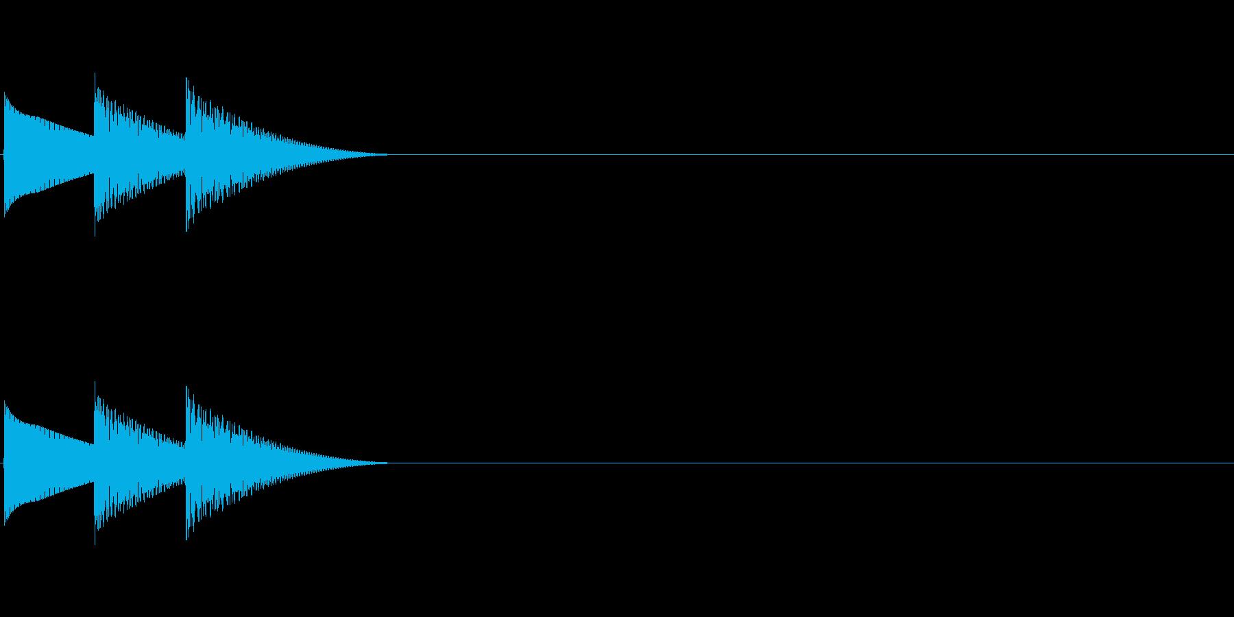 ゲームのキャンセル音「テレロ」の再生済みの波形