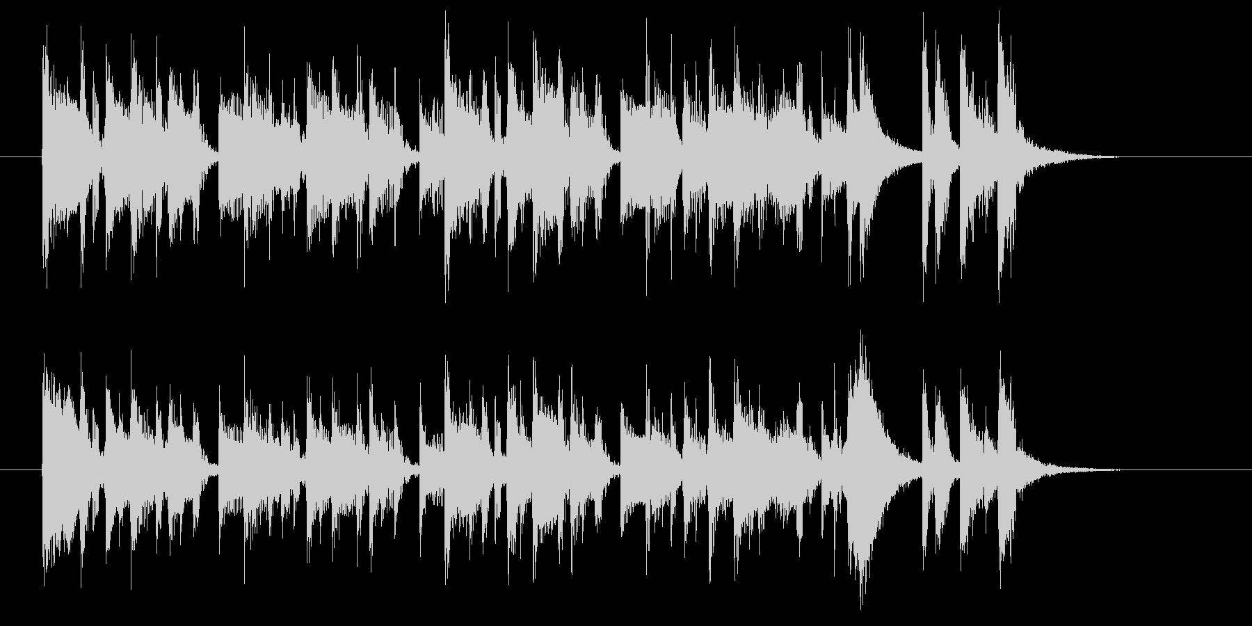 アップテンポなポップスバンドのジングル曲の未再生の波形
