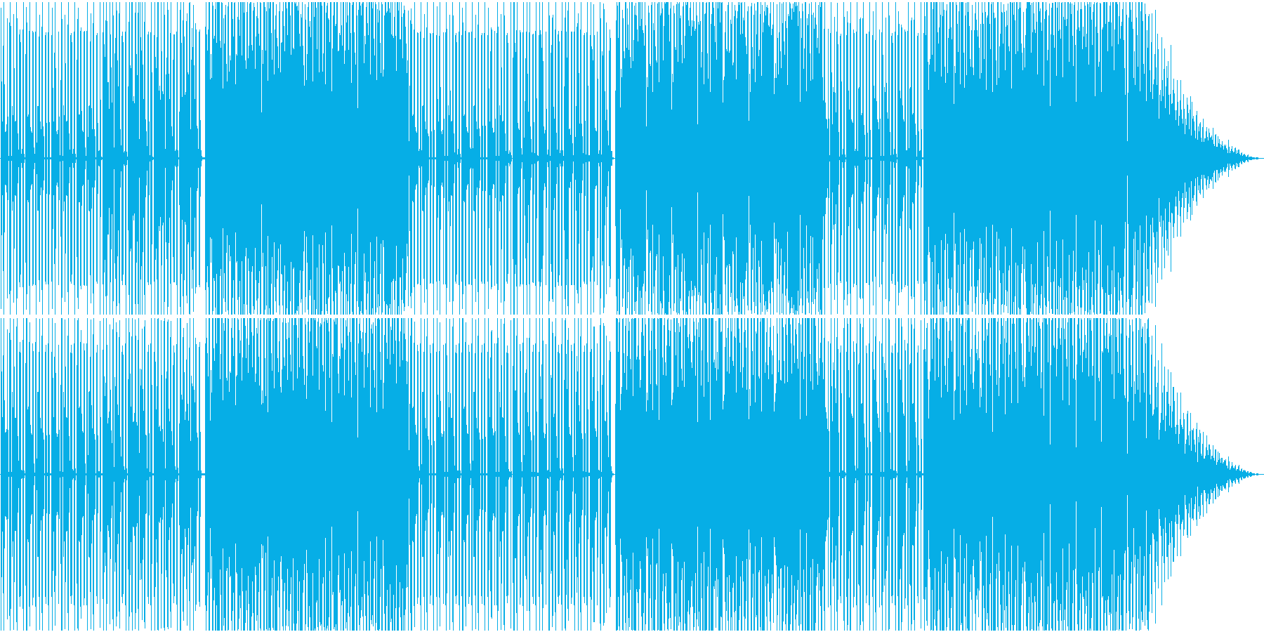 ラフな雰囲気のHiphopトラックの再生済みの波形