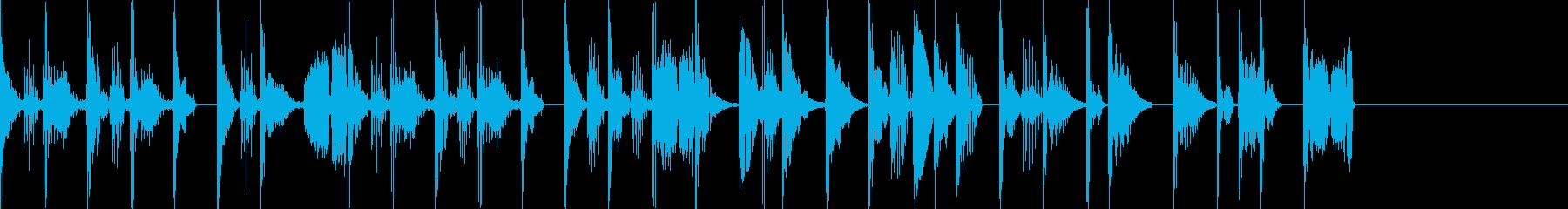 疾走感のある攻撃的なジングルの再生済みの波形