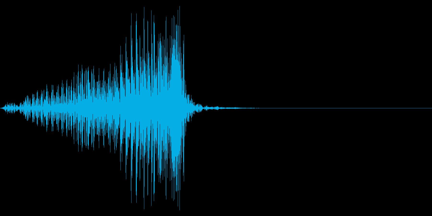 ゲーム掛け声男1ヤァ1の再生済みの波形