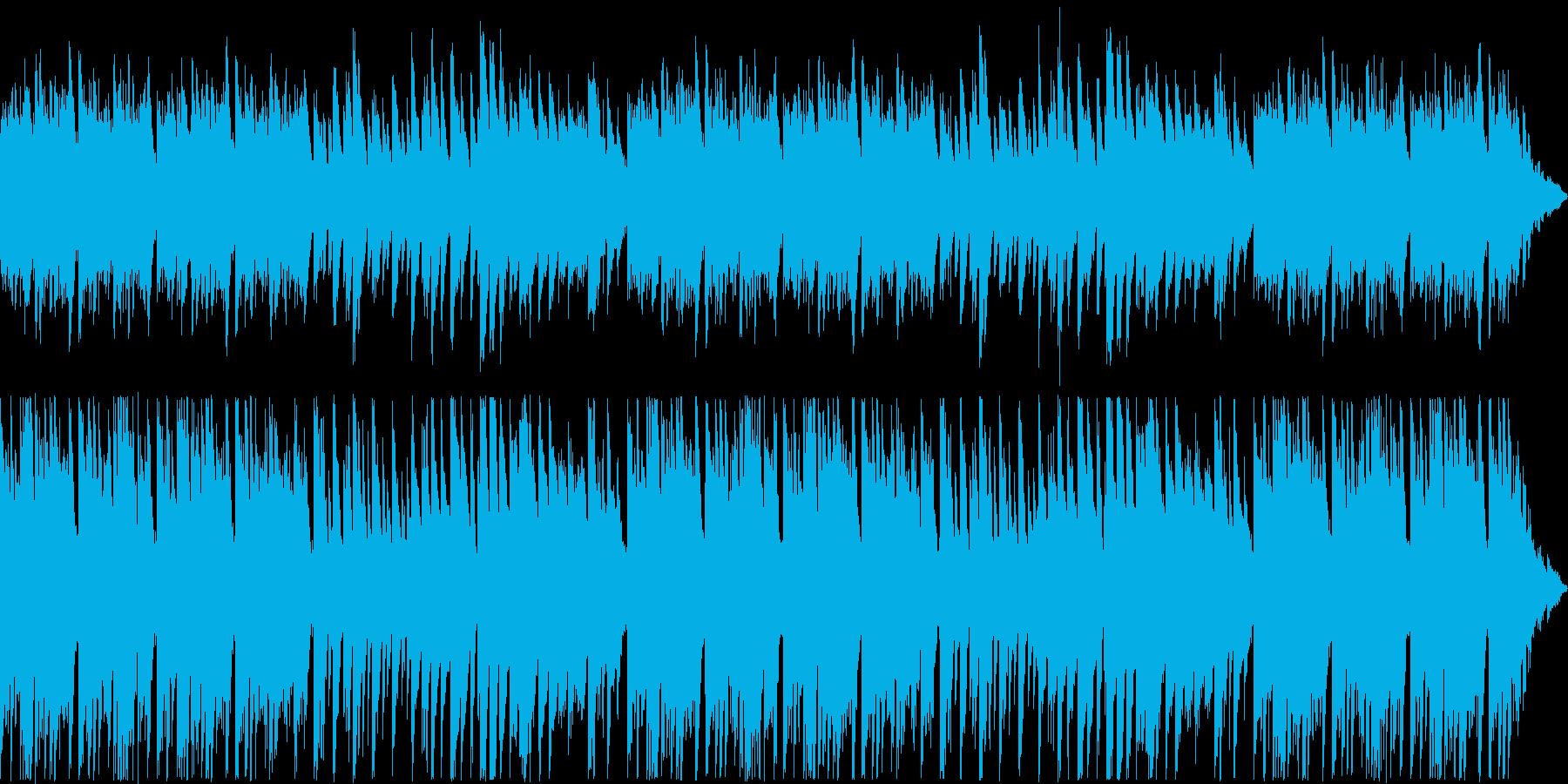悲しげな旋律のピアノバラードの再生済みの波形