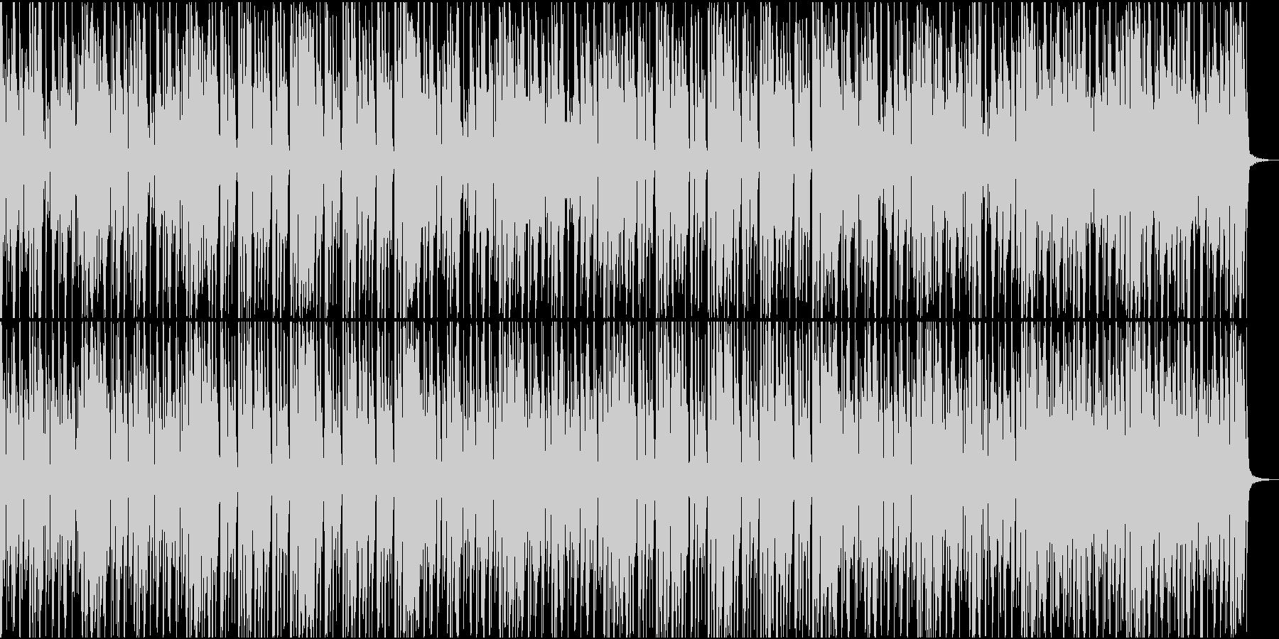 ノリノリなファンクBGMの未再生の波形