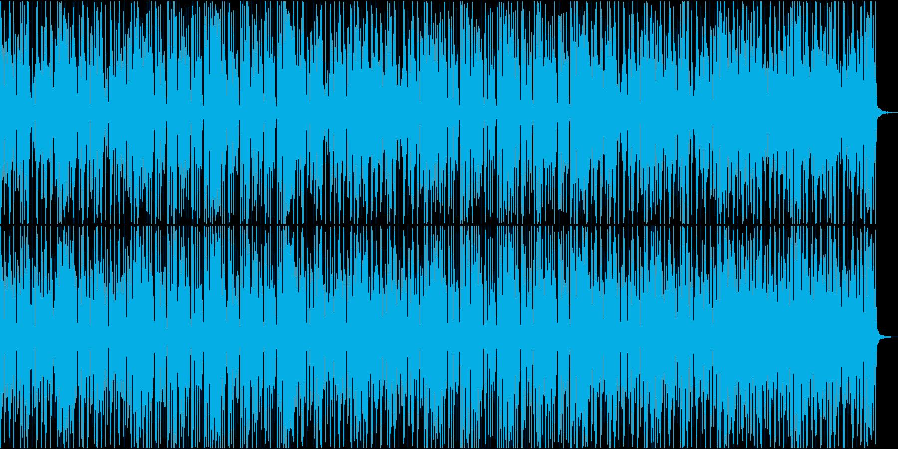 ノリノリなファンクBGMの再生済みの波形