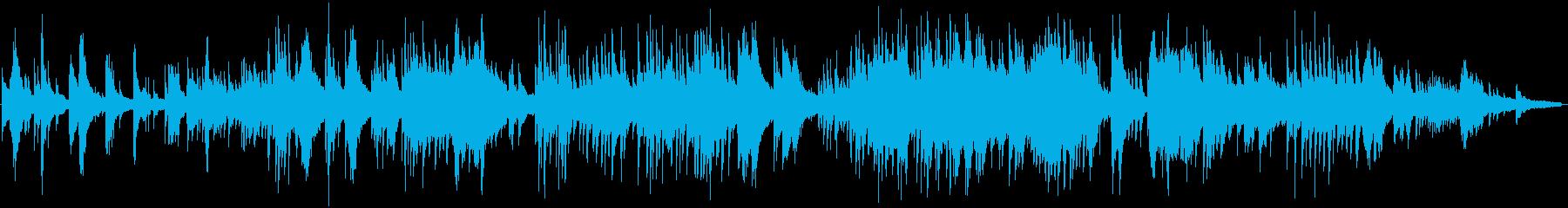 映像に。風のように流れていくピアノソロの再生済みの波形