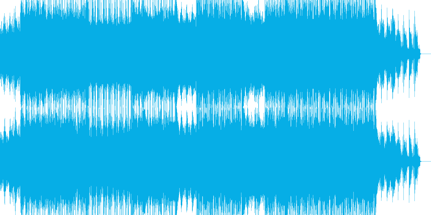 ロックから透き通るコーラスへの再生済みの波形