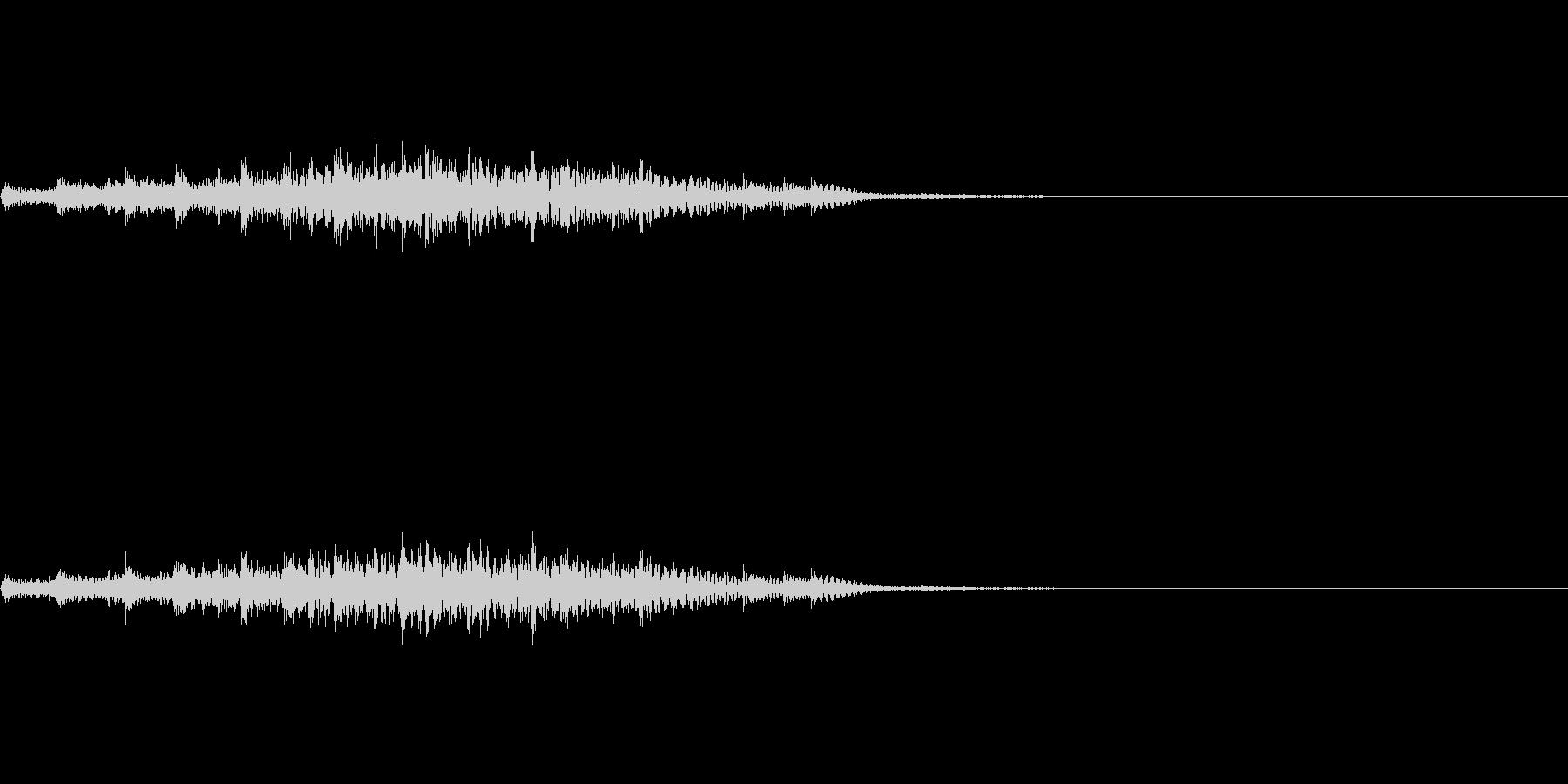 場面転換などに使える上昇系のかわいい音の未再生の波形