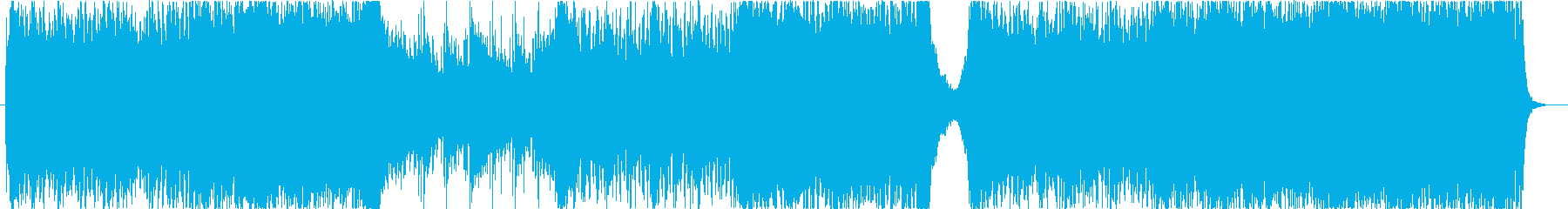 アクションRPGの戦闘曲の再生済みの波形