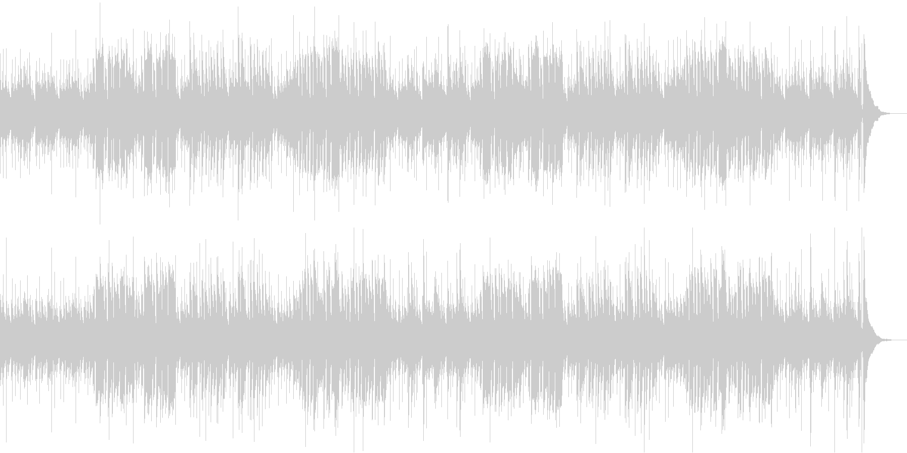 のどかでほのぼのした雰囲気のBGMの未再生の波形