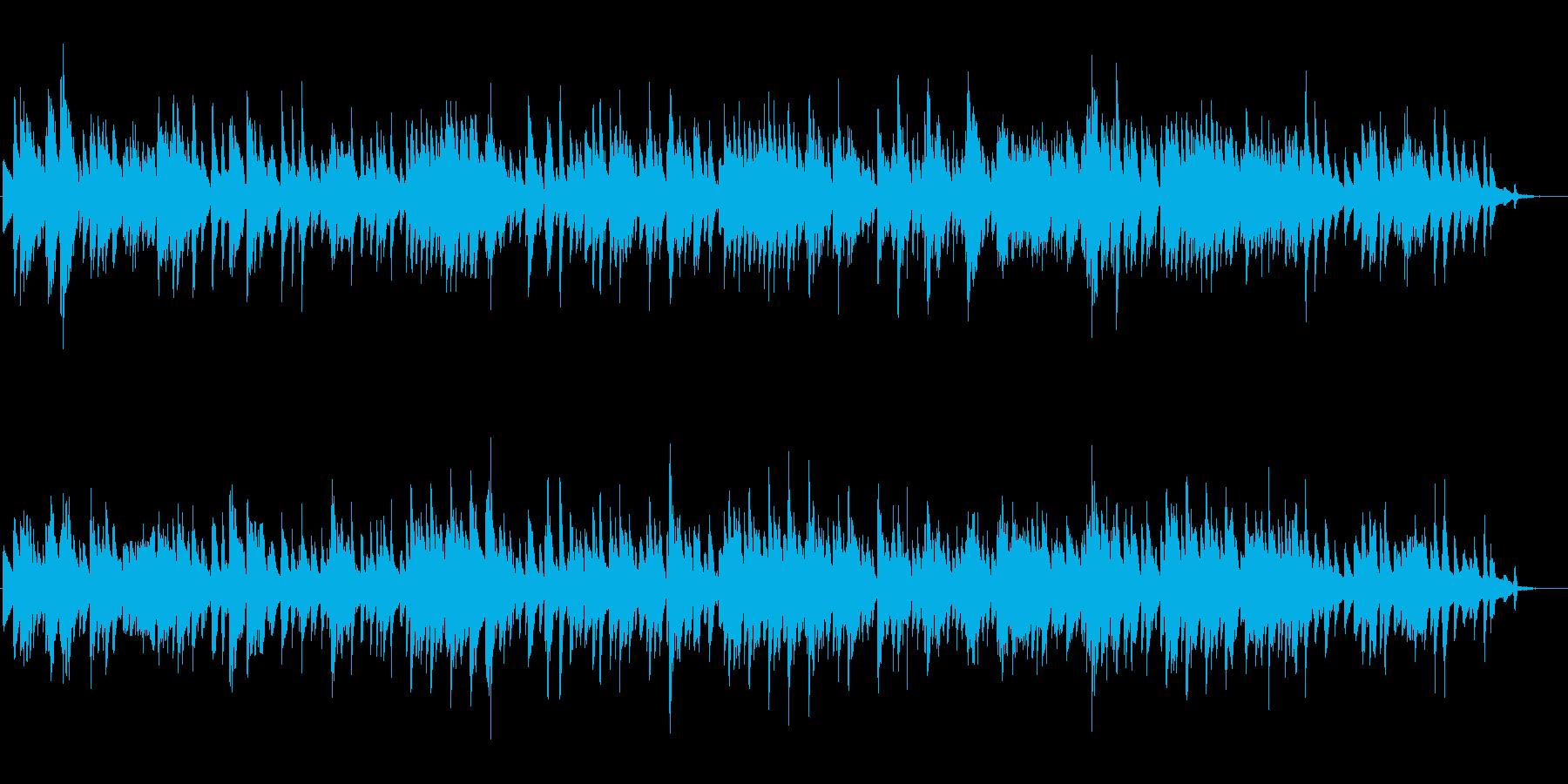 BARで流れる静かなJAZZの再生済みの波形