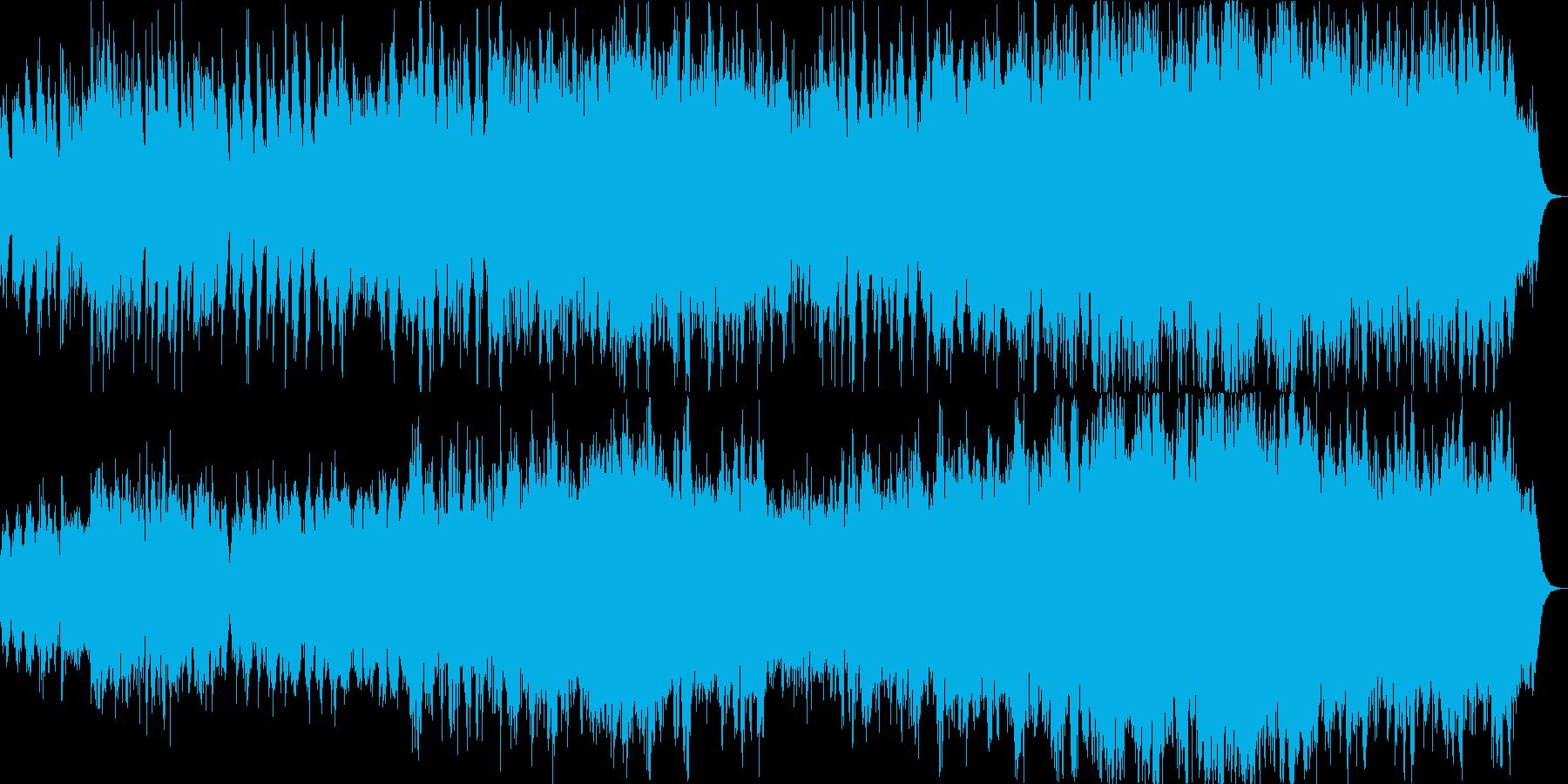ピアノとコーラスの爽やかな癒し系の再生済みの波形
