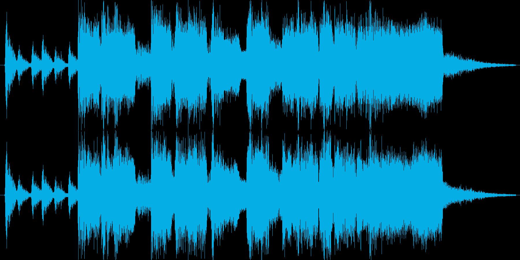 間の抜けた雰囲気のショートソングの再生済みの波形
