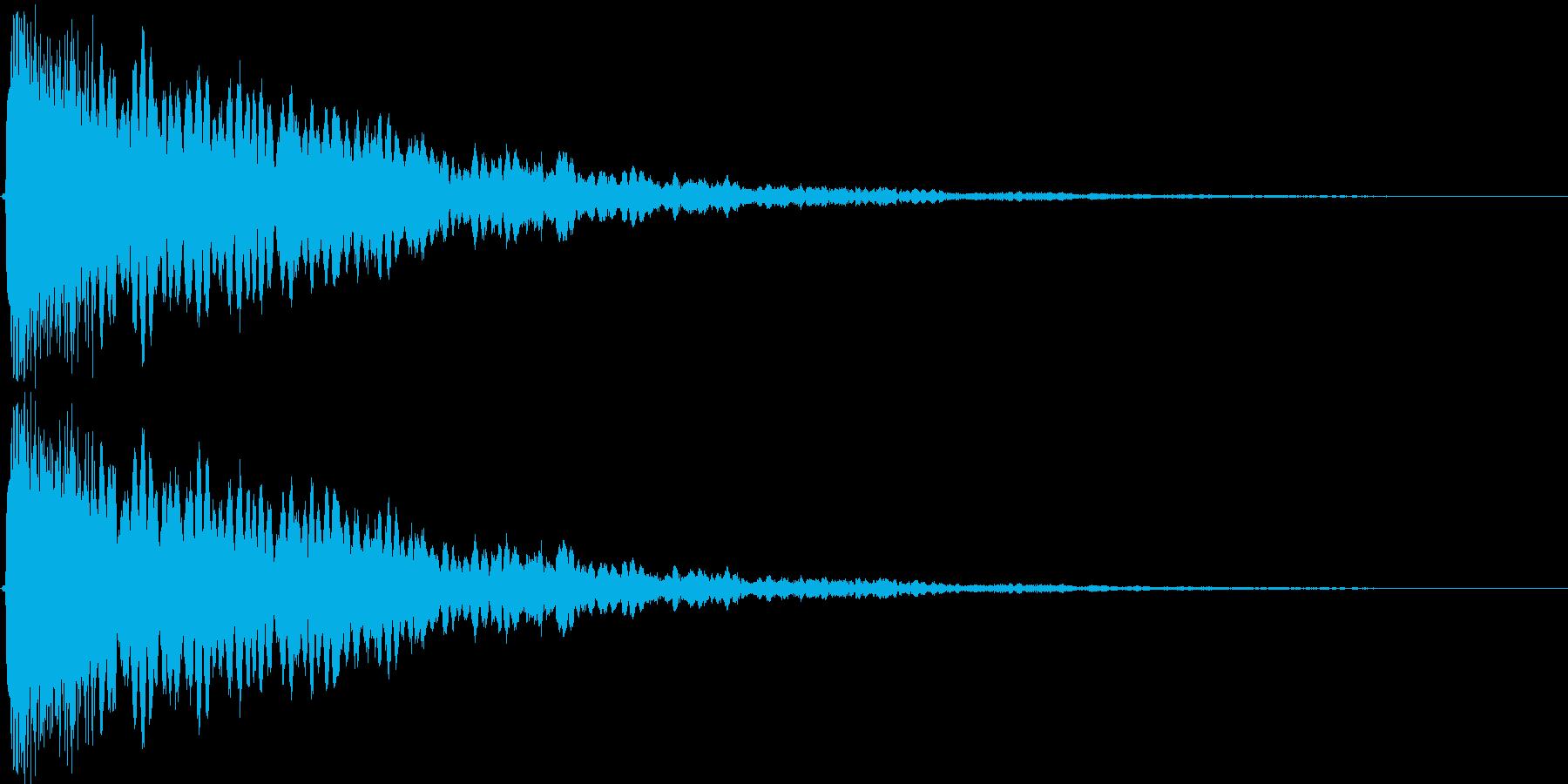きらーんと光る音の効果音です。の再生済みの波形