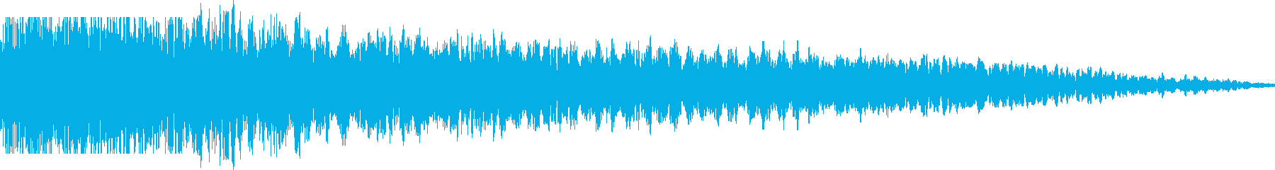 シャキーン(鋭い音)の再生済みの波形