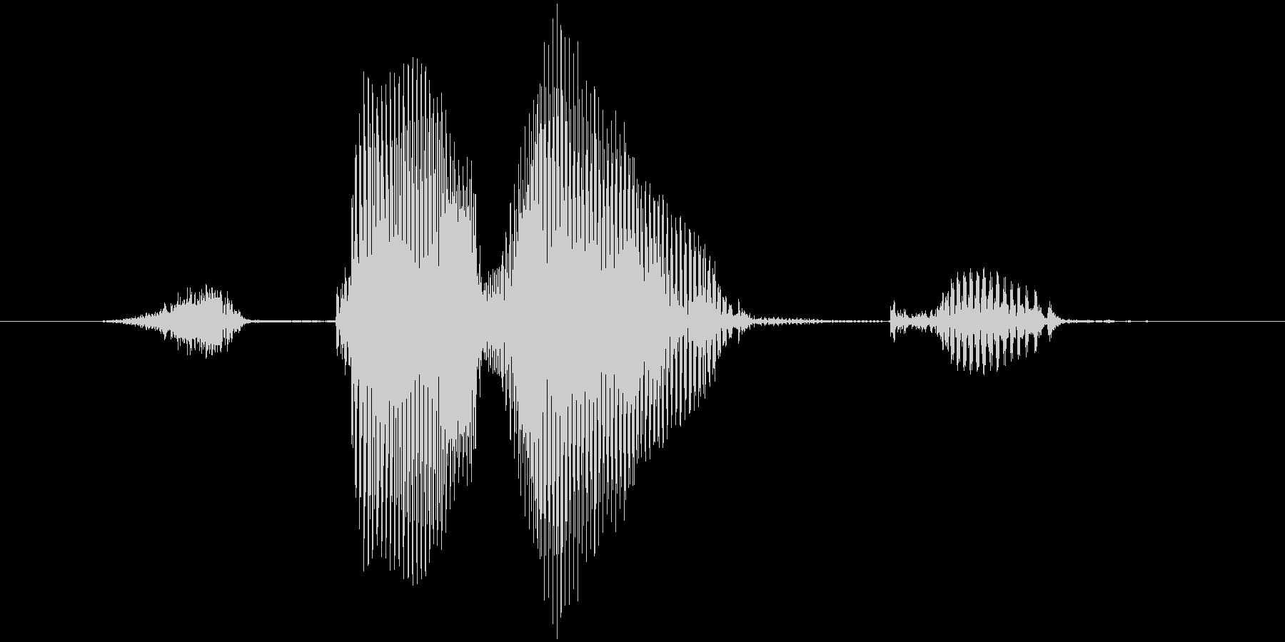 ストライク(低音)の未再生の波形