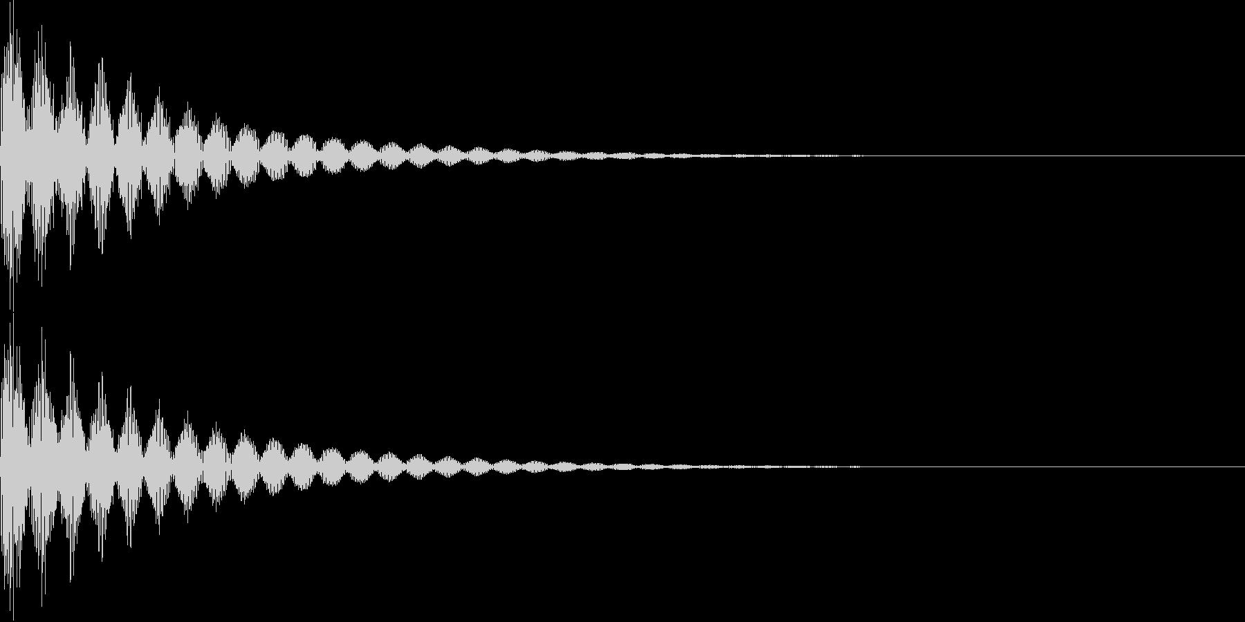 ベーン(キャンセル、失敗、インパクト)の未再生の波形