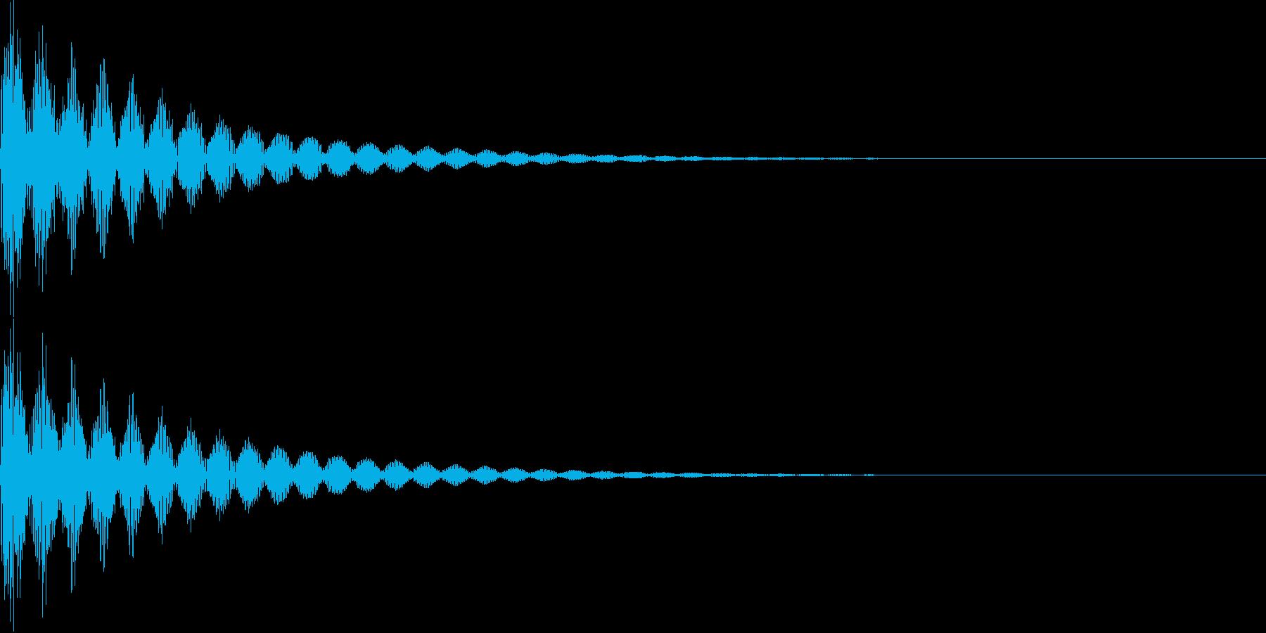ベーン(キャンセル、失敗、インパクト)の再生済みの波形