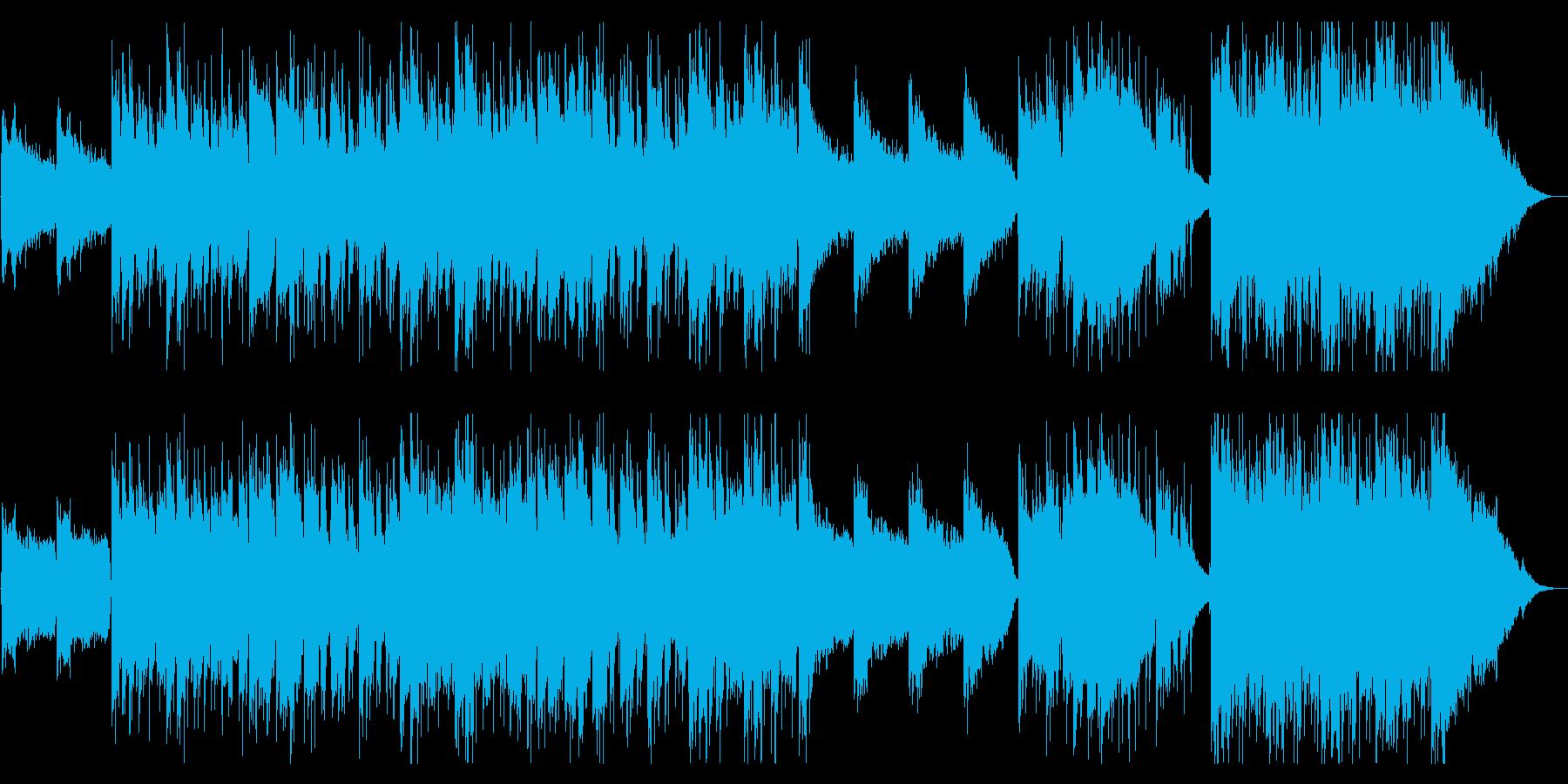 疾走感ある幻想的なポストロック風の再生済みの波形