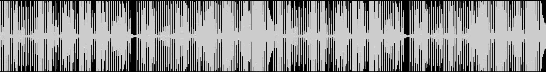 料理動画をイメージしたピアノループの未再生の波形