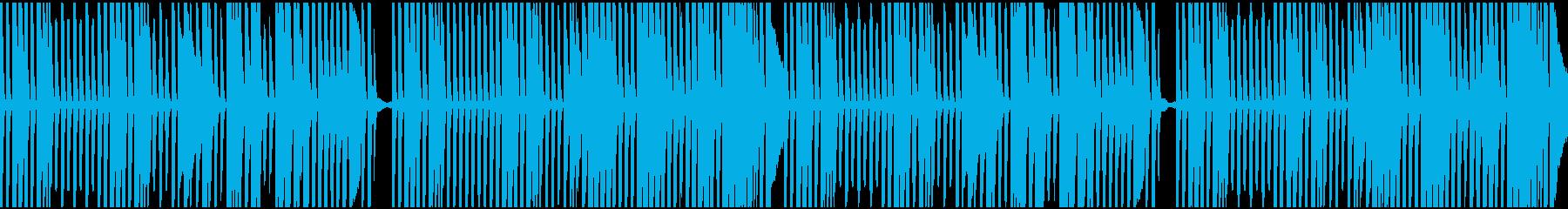 料理動画をイメージしたピアノループの再生済みの波形