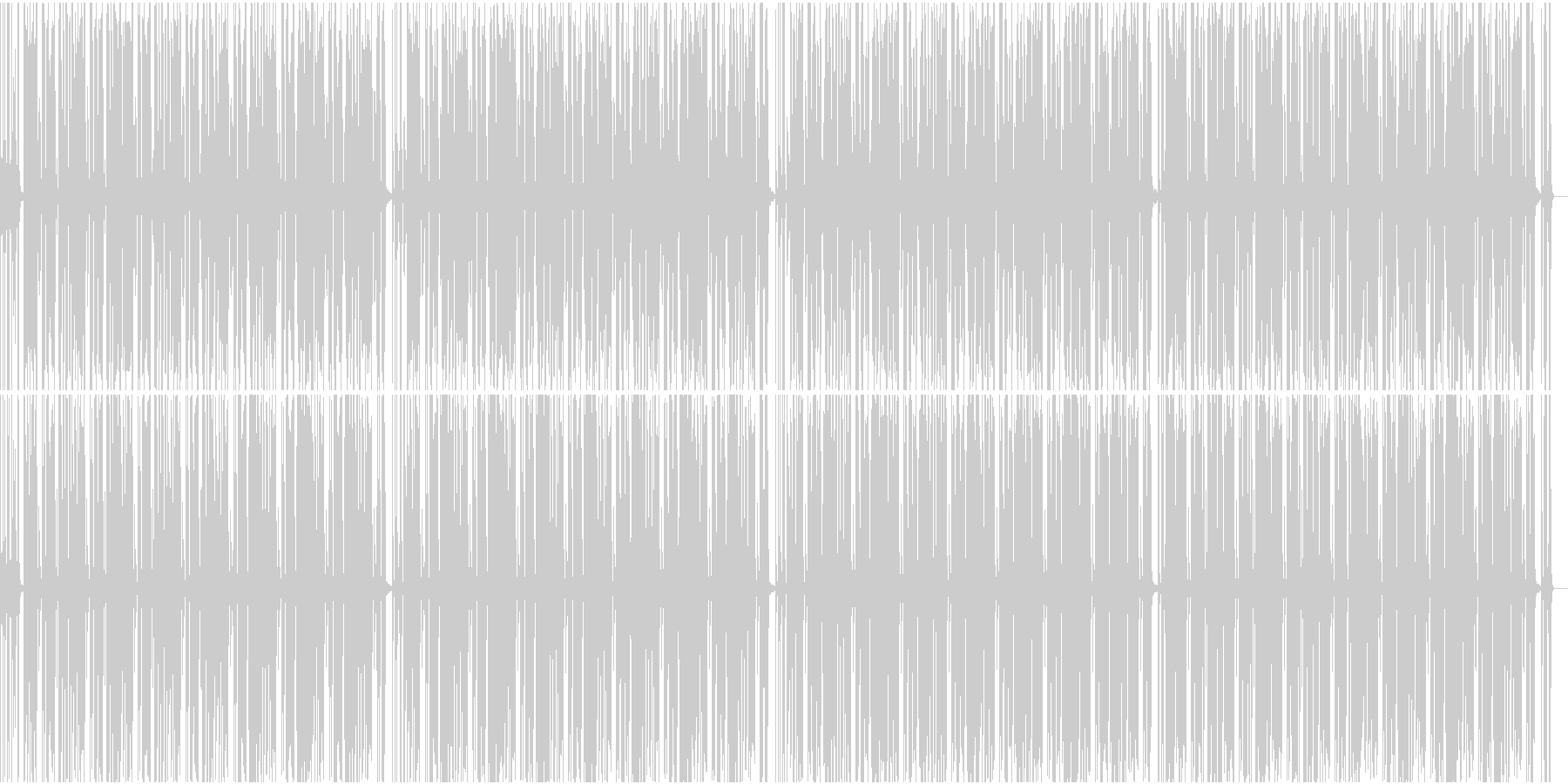 オールドクラシックなファンクの未再生の波形