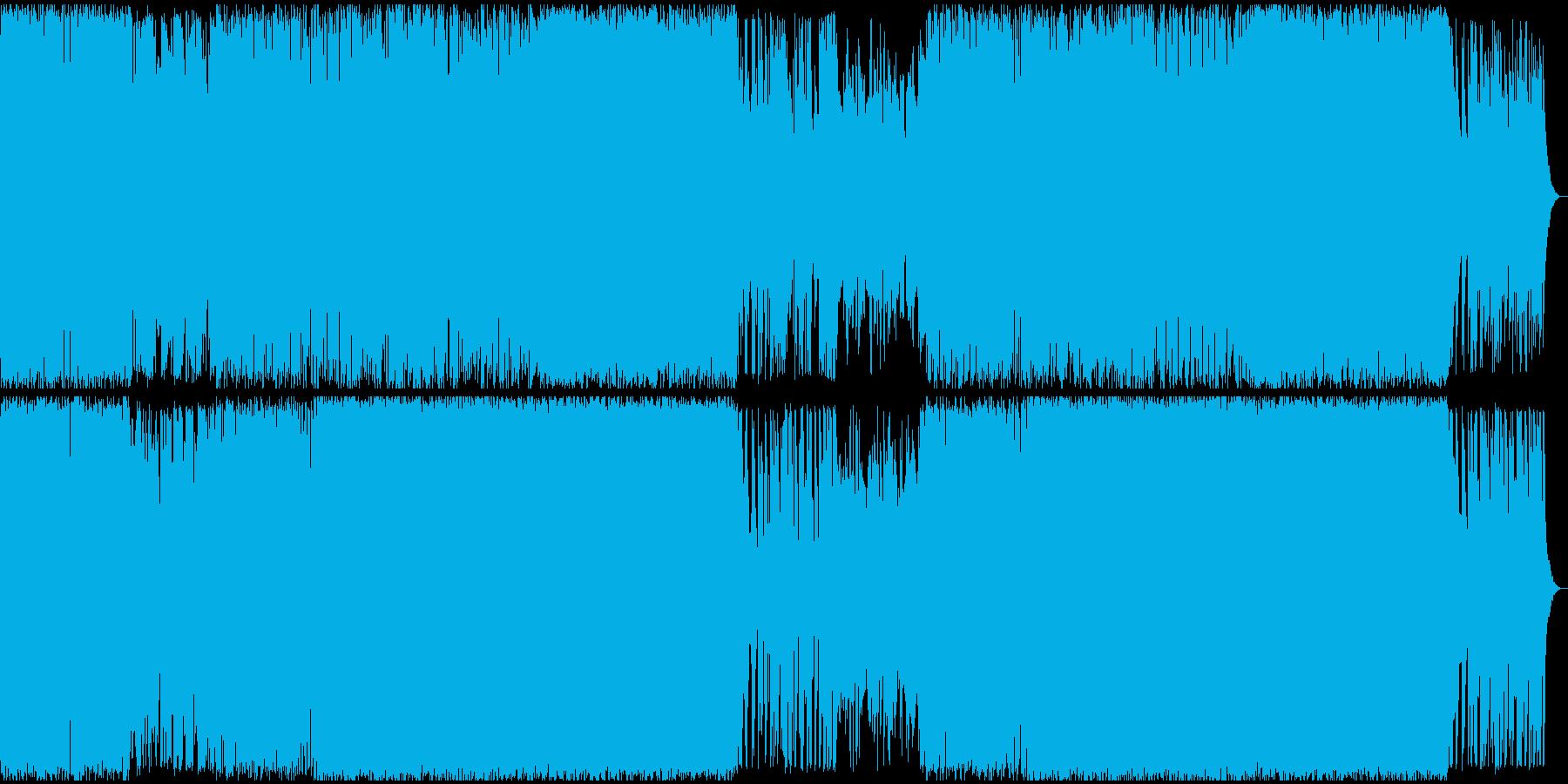 冒険ファンタジー系のオープニング楽曲の再生済みの波形