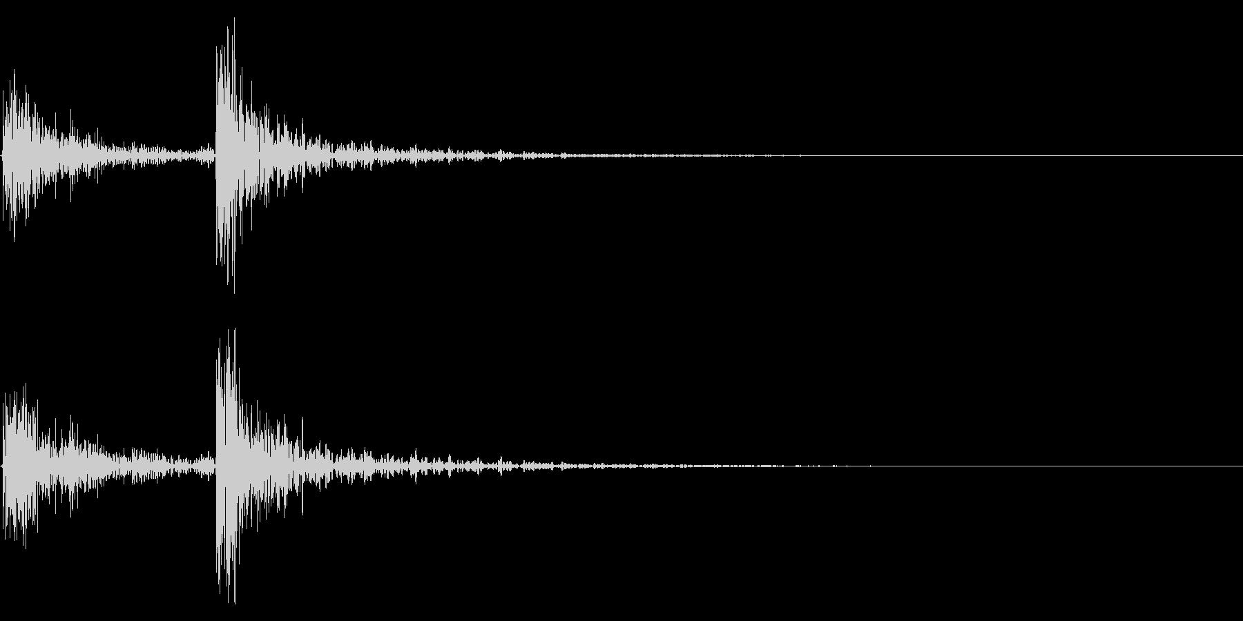 ドンドンの未再生の波形
