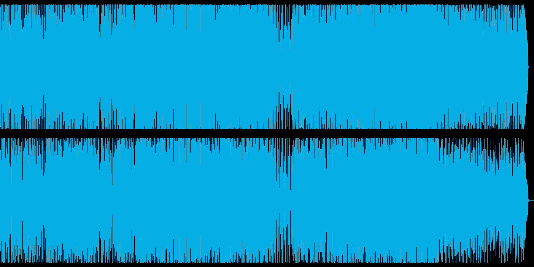 ワクワク、愉快なメロディのEDMの再生済みの波形