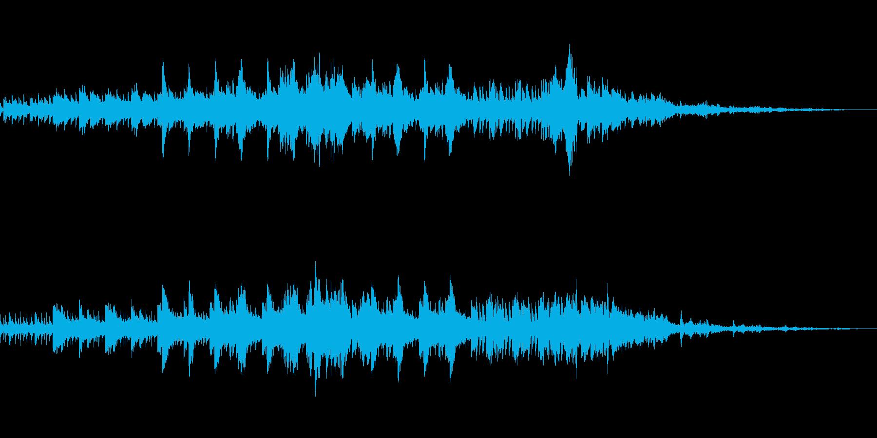 きらめく星のようなピアノ曲の再生済みの波形