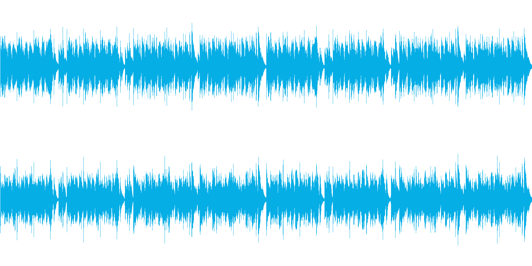 アニメ風日常・ほのぼのシーン向けBGMの再生済みの波形