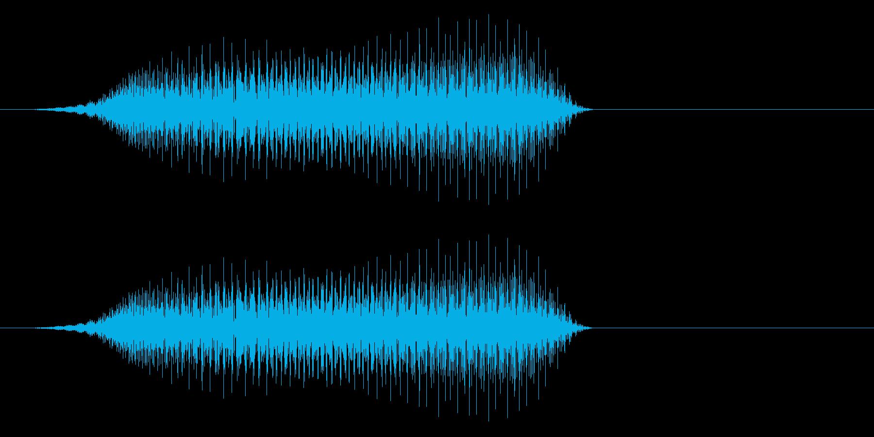 キュイ(選択したことを示す電子音)の再生済みの波形