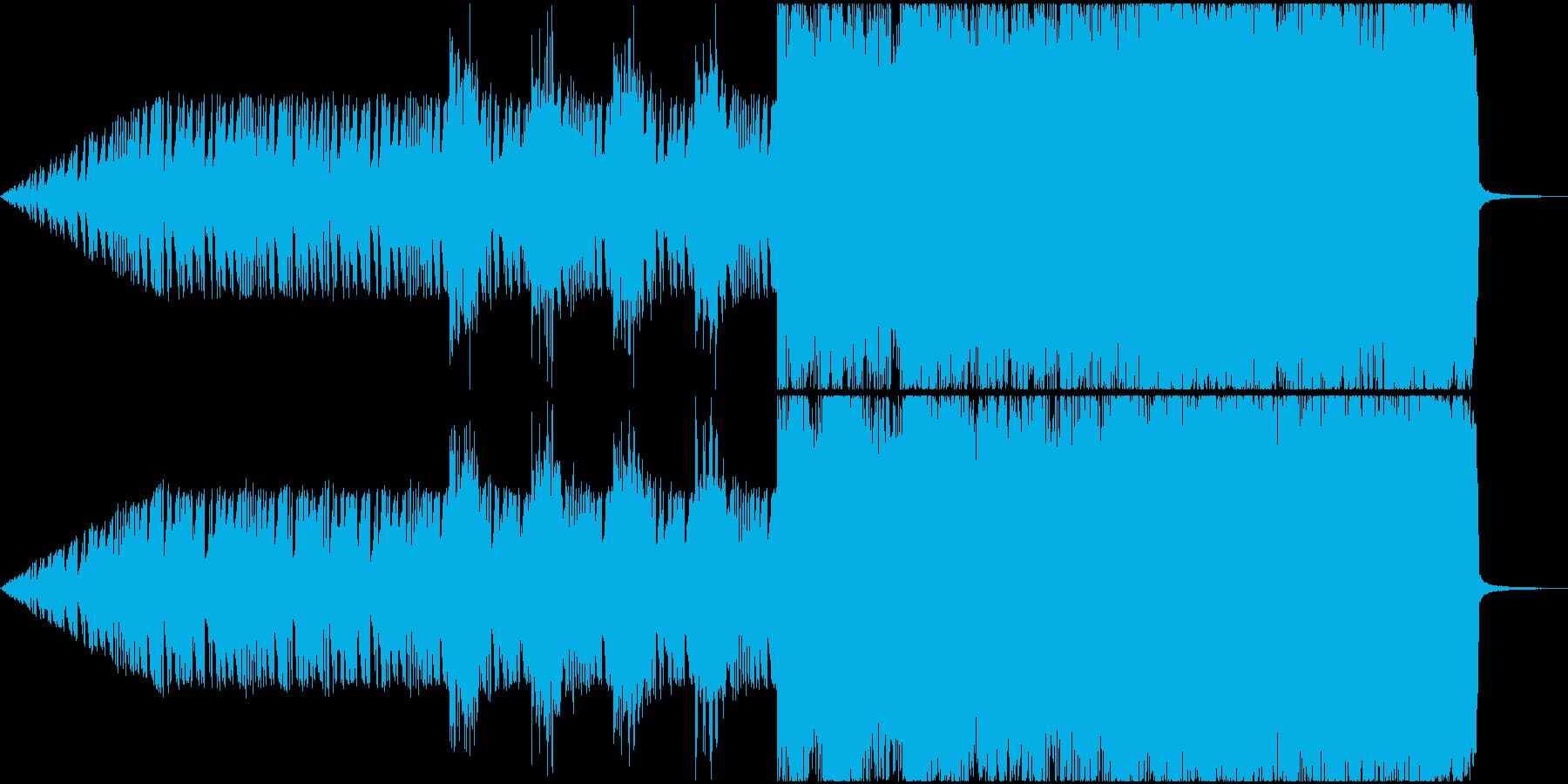 始まりを感じさせるロックバラード的SEの再生済みの波形
