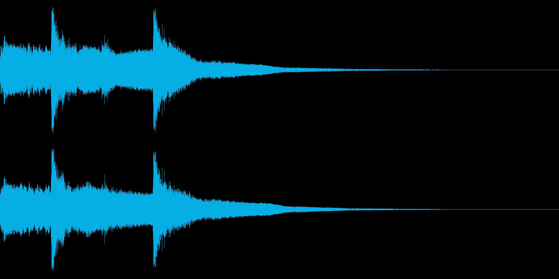 神社 神楽 雅楽の音 の再生済みの波形