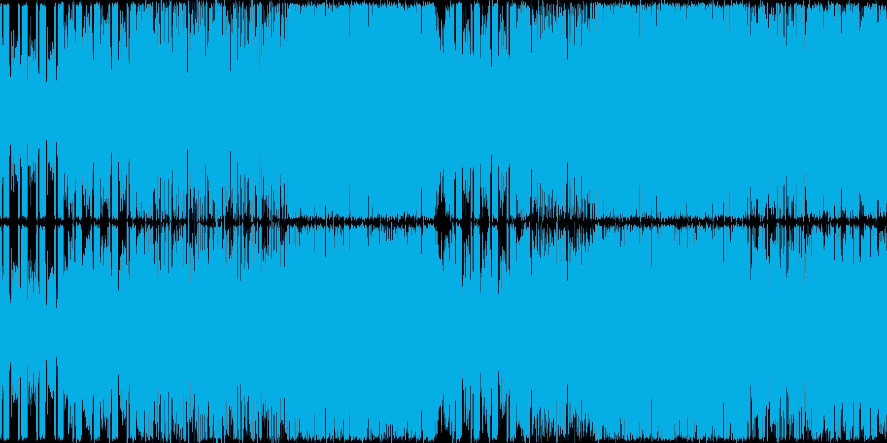 険しい山を演出したギター系の曲<loo…の再生済みの波形
