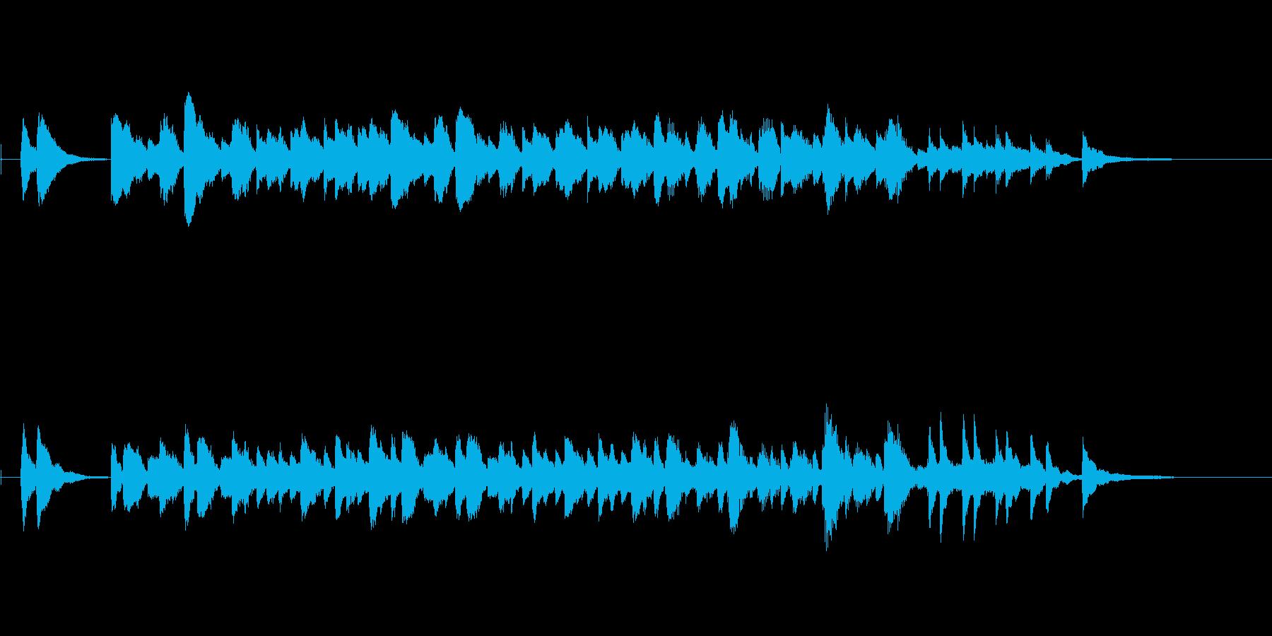 ほのぼのかわいい軽快なピアノワルツの再生済みの波形