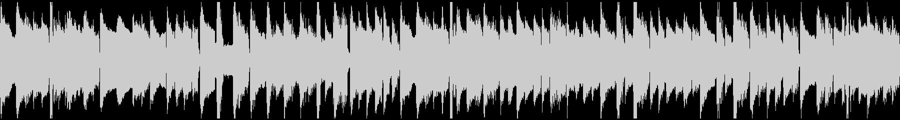 ハープシコードの三拍子BGM(ループ)の未再生の波形