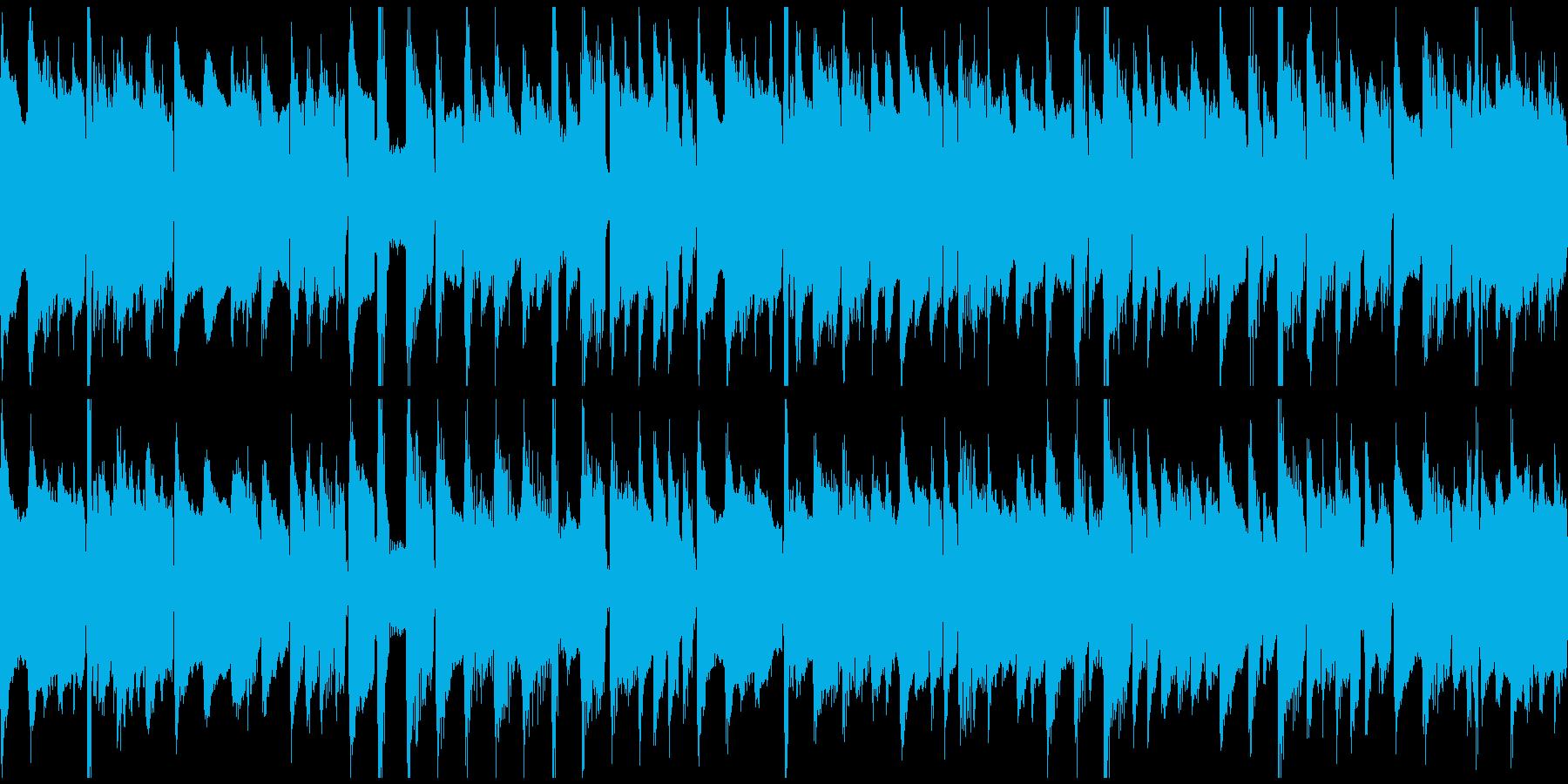 ハープシコードの三拍子BGM(ループ)の再生済みの波形
