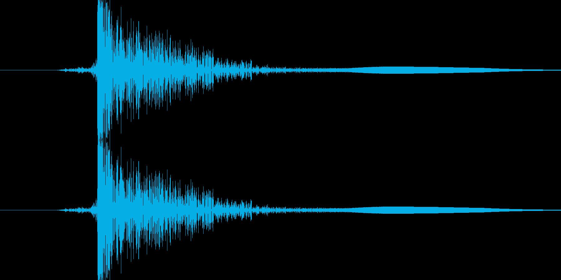 パン(平手打ち)の再生済みの波形