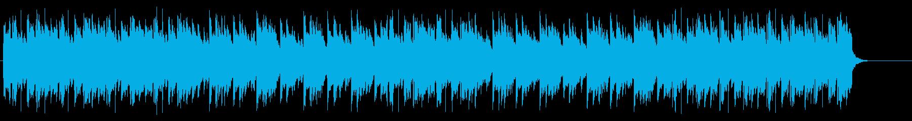淡々としたアコースティックなBGMの再生済みの波形